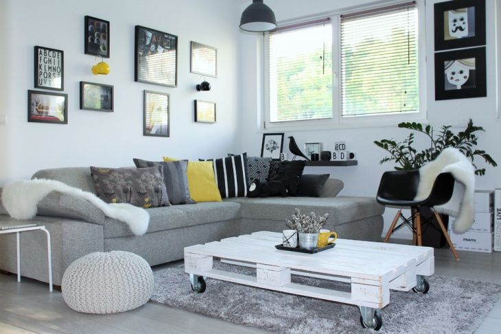 Living Room With Scandinavian Design