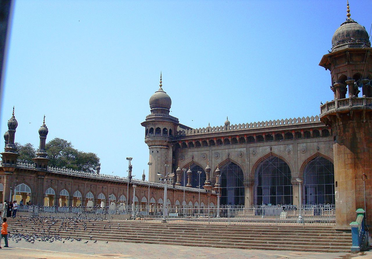 Mecca masjid, one of the famous mosques of Hyderabad city