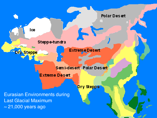 Ice Age Eurasian Climate Maps Pinterest Ice Age Places To