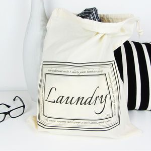 Home And Travel Laundry Bag With Personalised Initials Home Sale