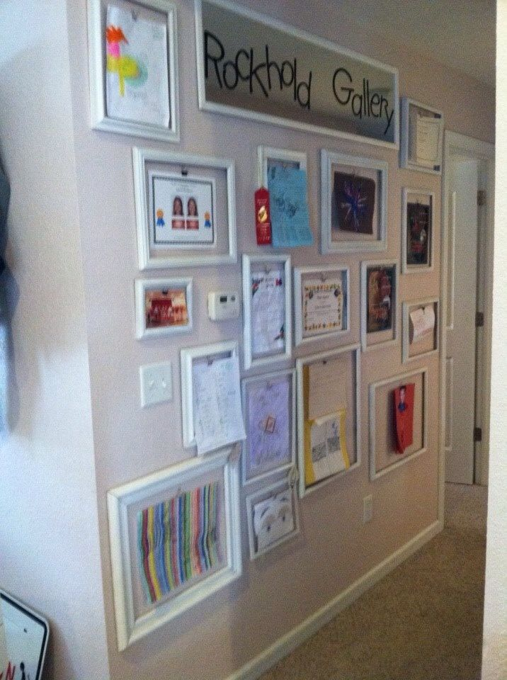 Rockhold Gallery Picture frame wall. Not sure how I came up with it ...
