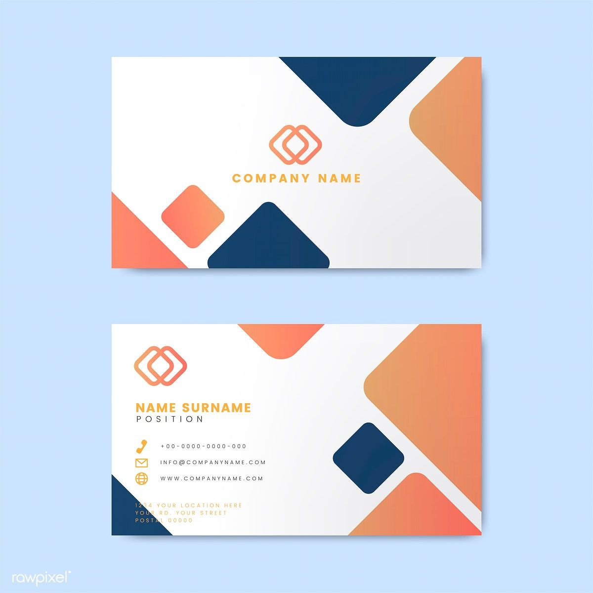 Minimal Modern Business Card Design Featuring Geometric Elements Free Image By Rawpix Business Card Design Minimal Modern Business Cards Business Card Design