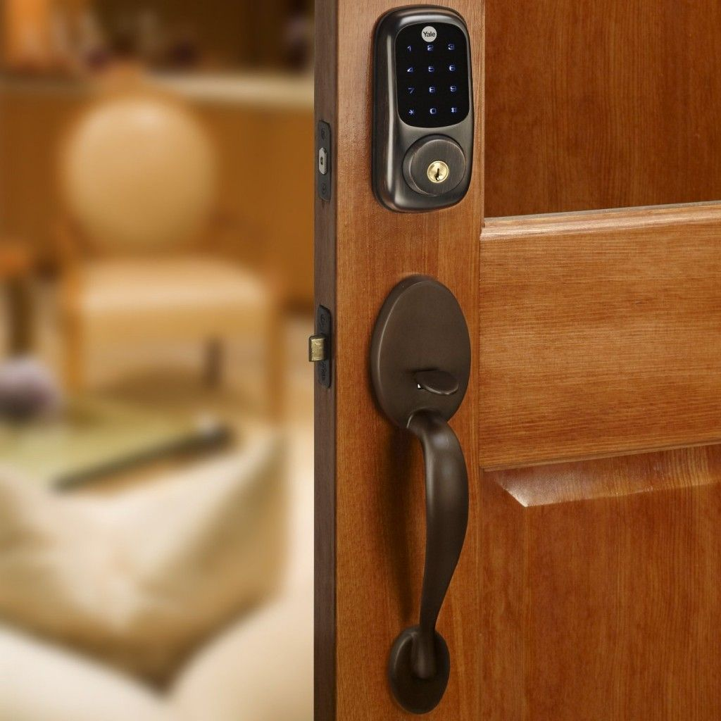 Yale Electronic Touch Screen Deadbolt Gives Ability To Lock Or