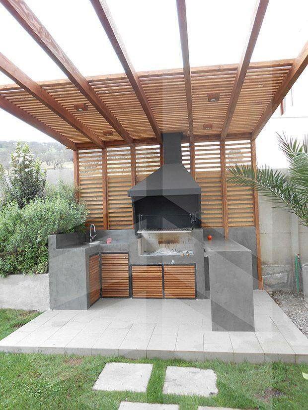 Braai area canopy fire pit pinterest canopy patios - Pergolas de cemento ...