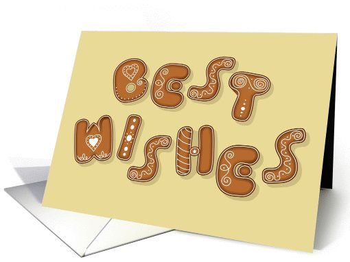 Best Wishes. Artistic font - Sweet Ginger Cookies card (1459690)