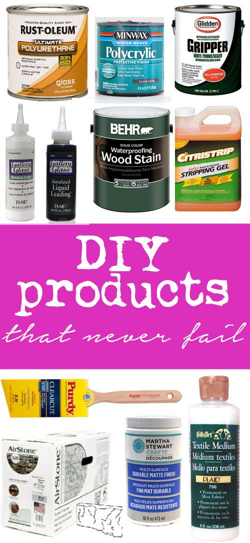If you are starting a project check out these tried and true products that will get the the DIY job done and last for years.