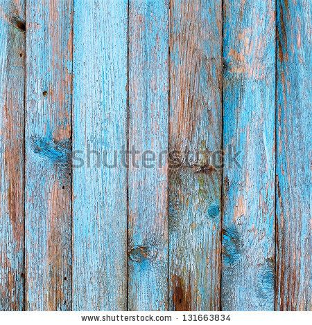 Rustic Wood Gates Rustic wooden fence purification of blue paint