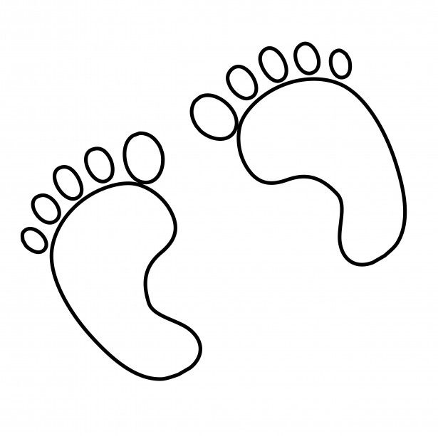 Footprints Outline Clipart Dr Seuss week Pinterest - book outline template
