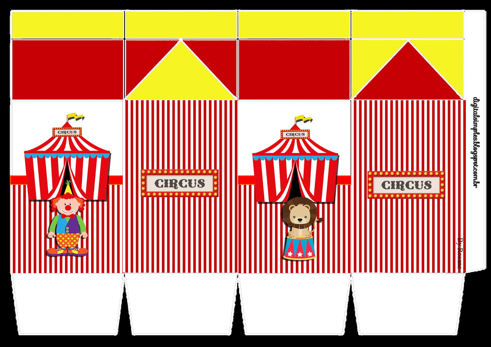 Kit De Personalizados Tema Circo Para Imprimir Tema Circo