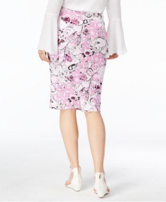 277c77567 Thalia Sodi Printed Scuba Pencil Skirt, Created for Macy's - Pink ...