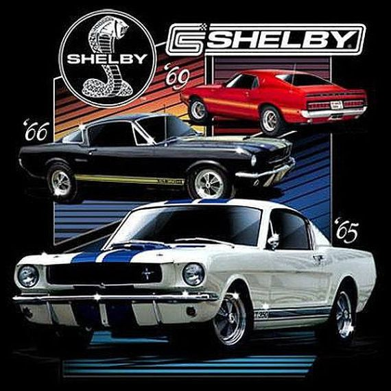 New Shelby Cobra Logo Classic Racing Car Men/'s White T-Shirt Size S to 3XL