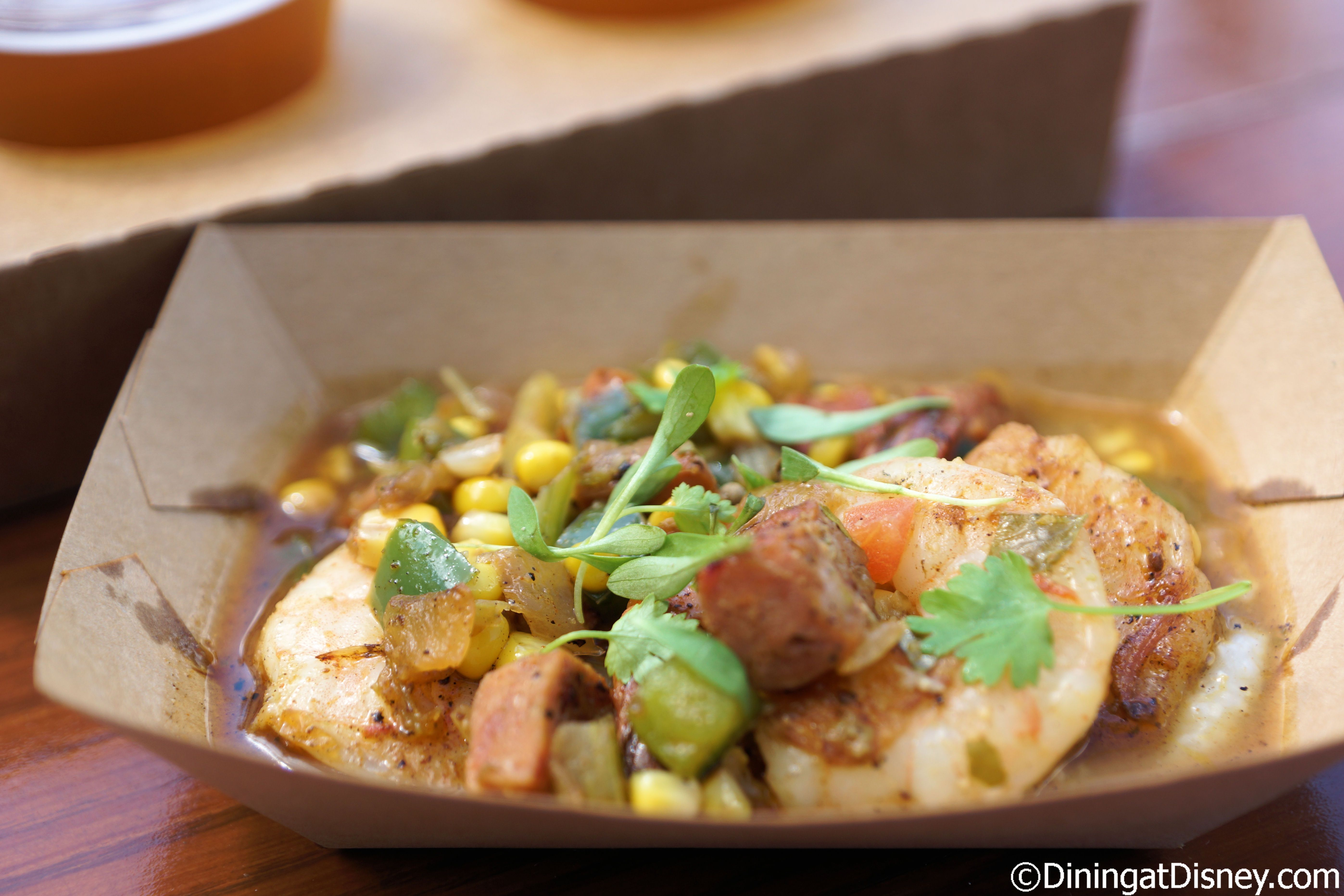 Shrimp and grits from Florida Fresh at the 2015 Epcot Flower and Garden Festival Outdoor Kitchens