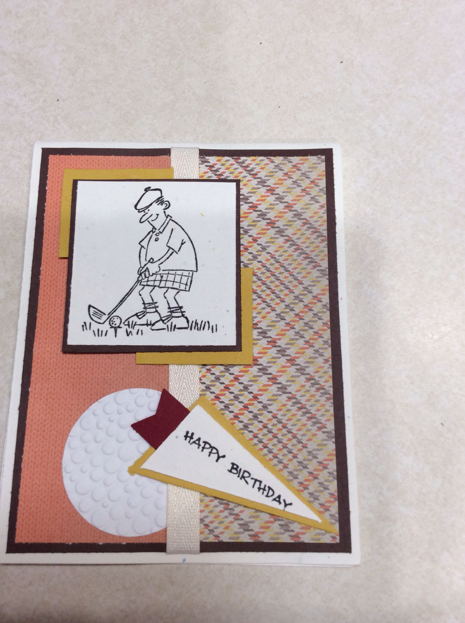 Masculine Birthday Card Using And Many Mower By Stampin Up