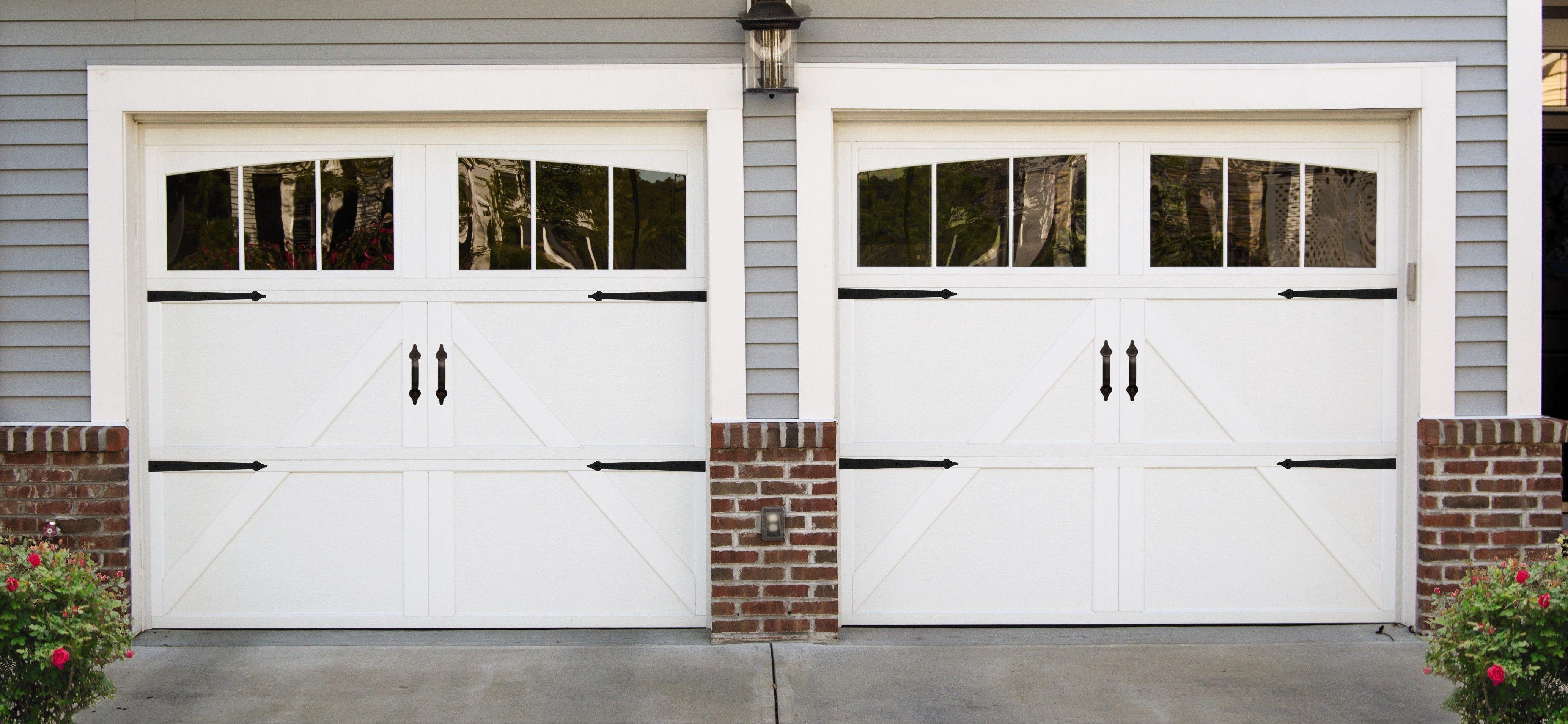 White Farmhouse Garage Door Carriage Style Garage Doors Carriage House Doors Carriage Garage Doors