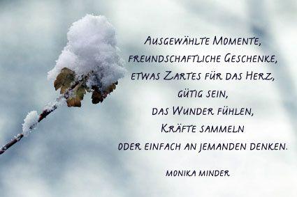 Monika minder gedichte weihnachten