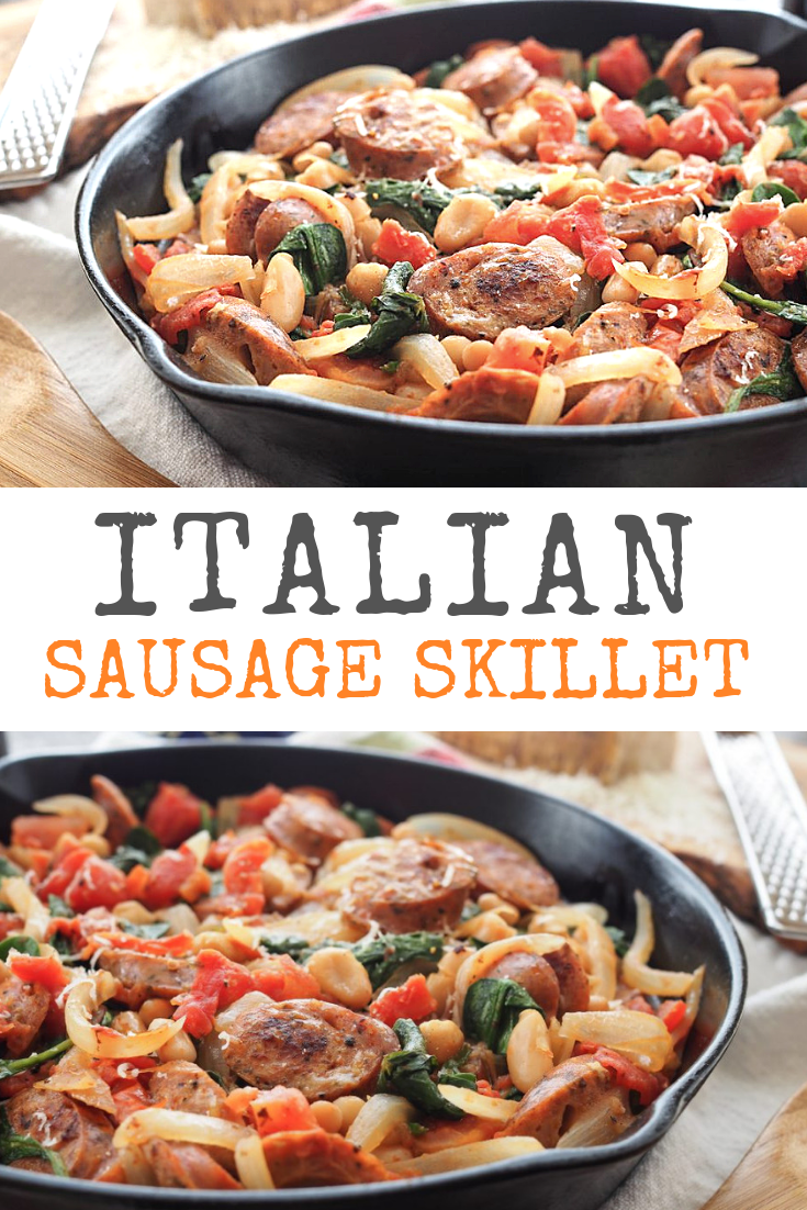 Easy Weeknight Italian Sausage Skillet Recipe  The Travel Bite