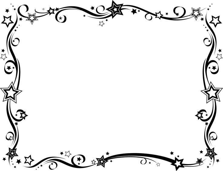 Frames - Black on Pinterest | Free Frames, Clip Art and Border ...