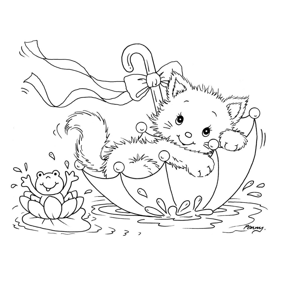 Kitten Cat Coloring Page Coloring Pages Animal Coloring Pages