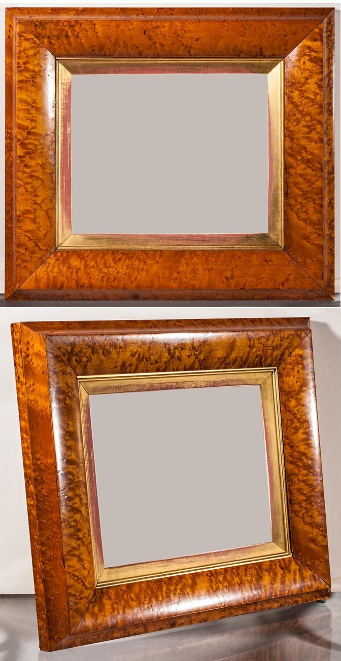 Gorgeous Birdseye Maple Veneer Frame From The 1840s Look At That Patina 17 X 19 Outside And 9 7 8 X 11 7 8 Inside Frame Picture Frames Antique Frames