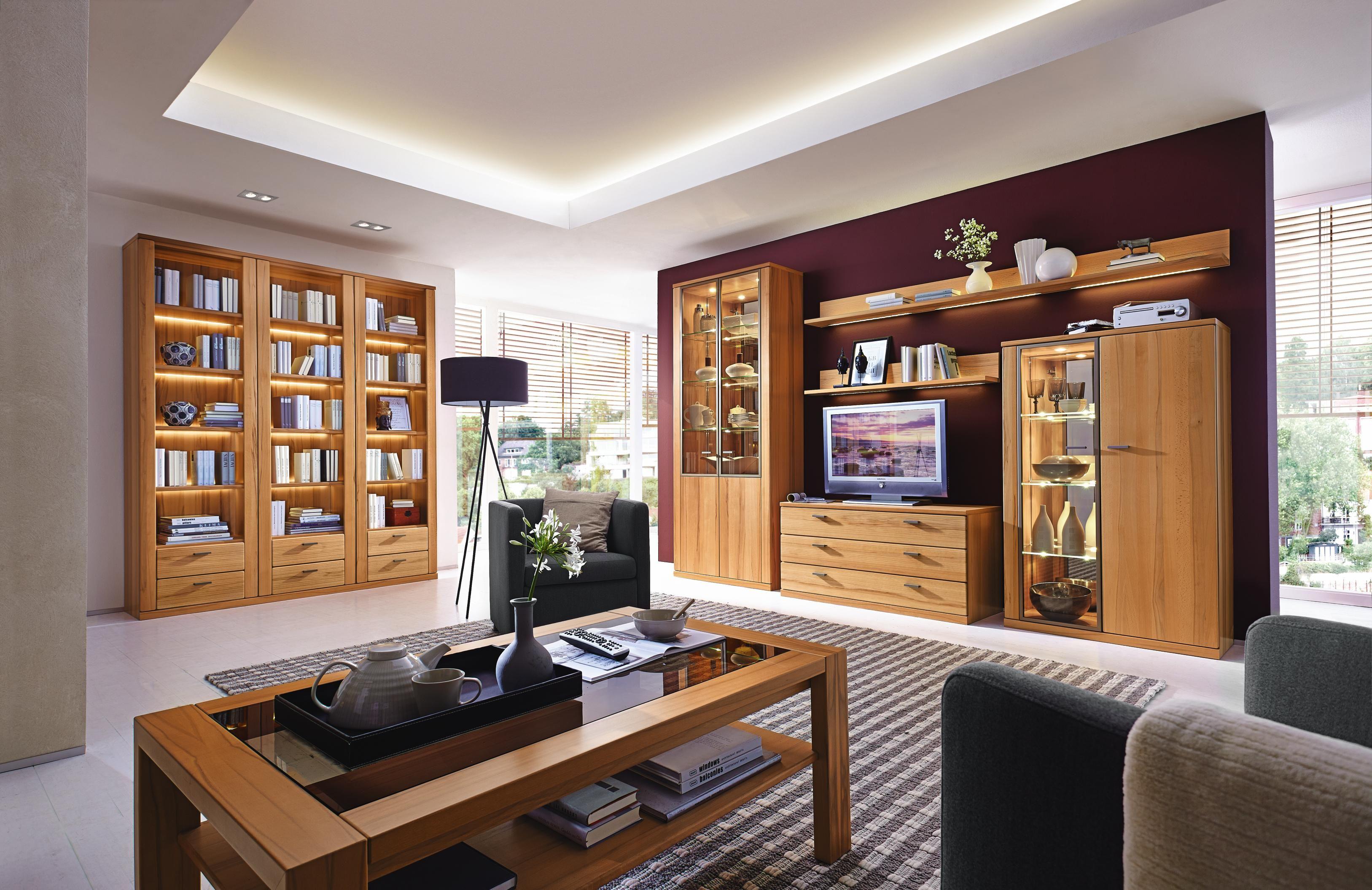 Stilvolle Wohnwand Von INVIVUS Eichenholz Schmckt Ihr Zuhause