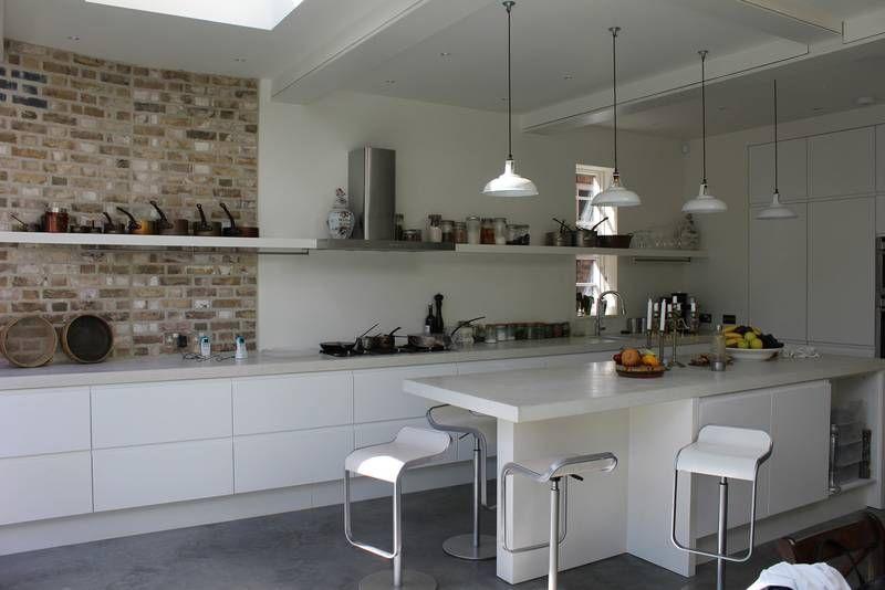 Polished concrete worktops kitchens kitchen pinterest for Polished concrete kitchen countertops