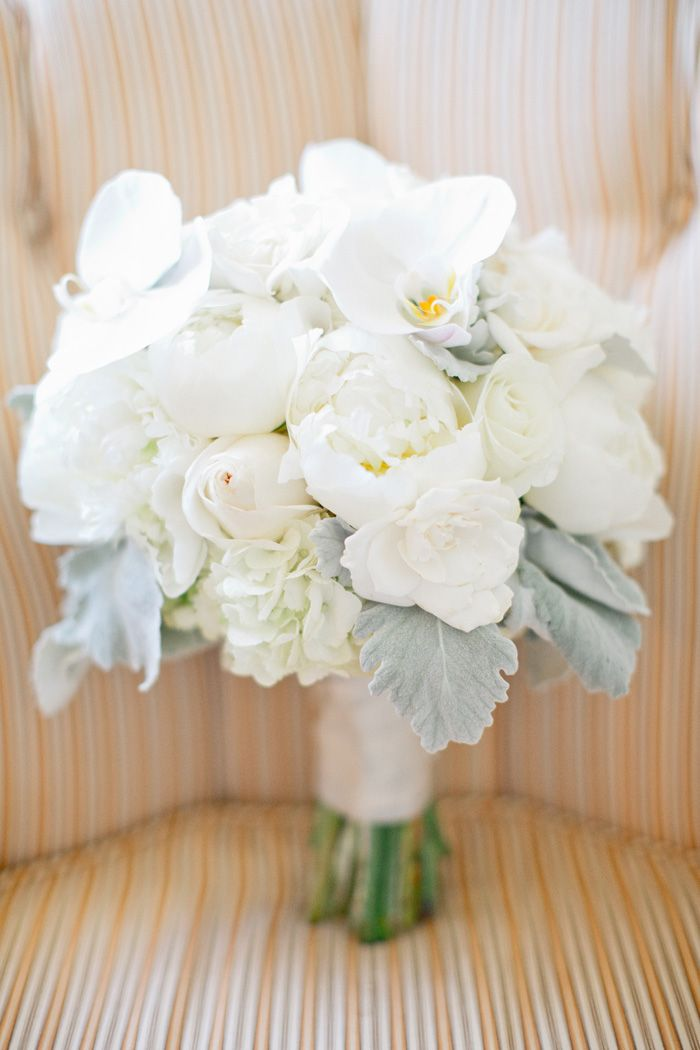 Glam San Francisco Wedding Bride Bouquets White White Wedding