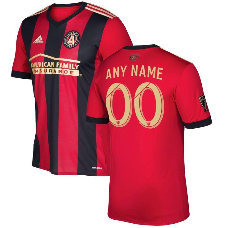 Atlanta United FC adidas 2017 Primary Replica Custom Jersey - Red/Black -  $114.99