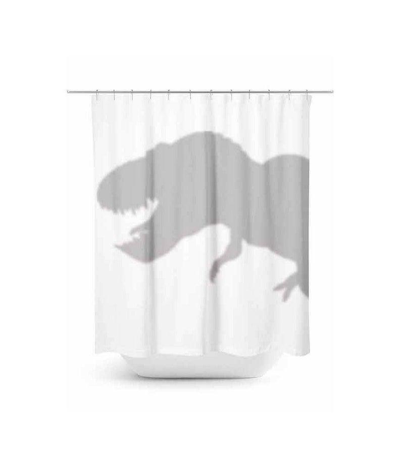 T Rex Shower Curtain Dinosaur Shadow Design Dinosaur Hiding