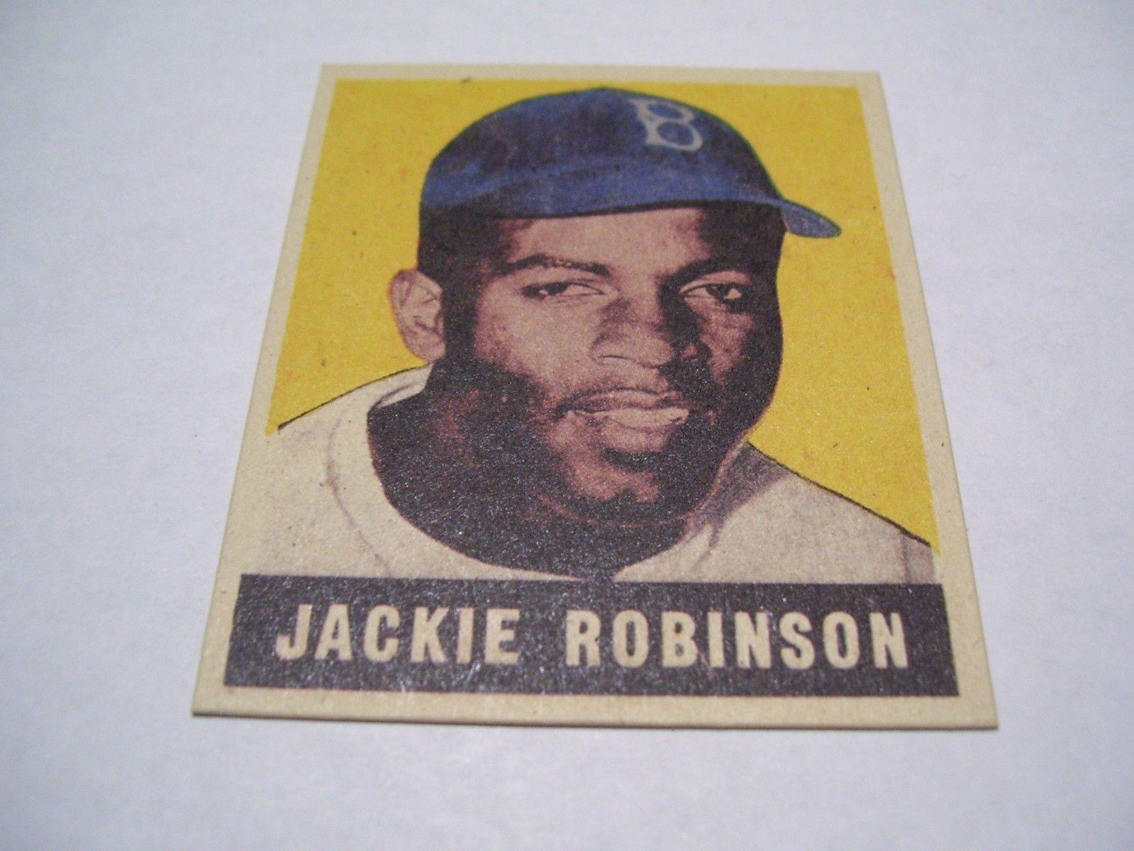 1949 leaf jackie robinson brooklyn dodgers 79 baseball card re