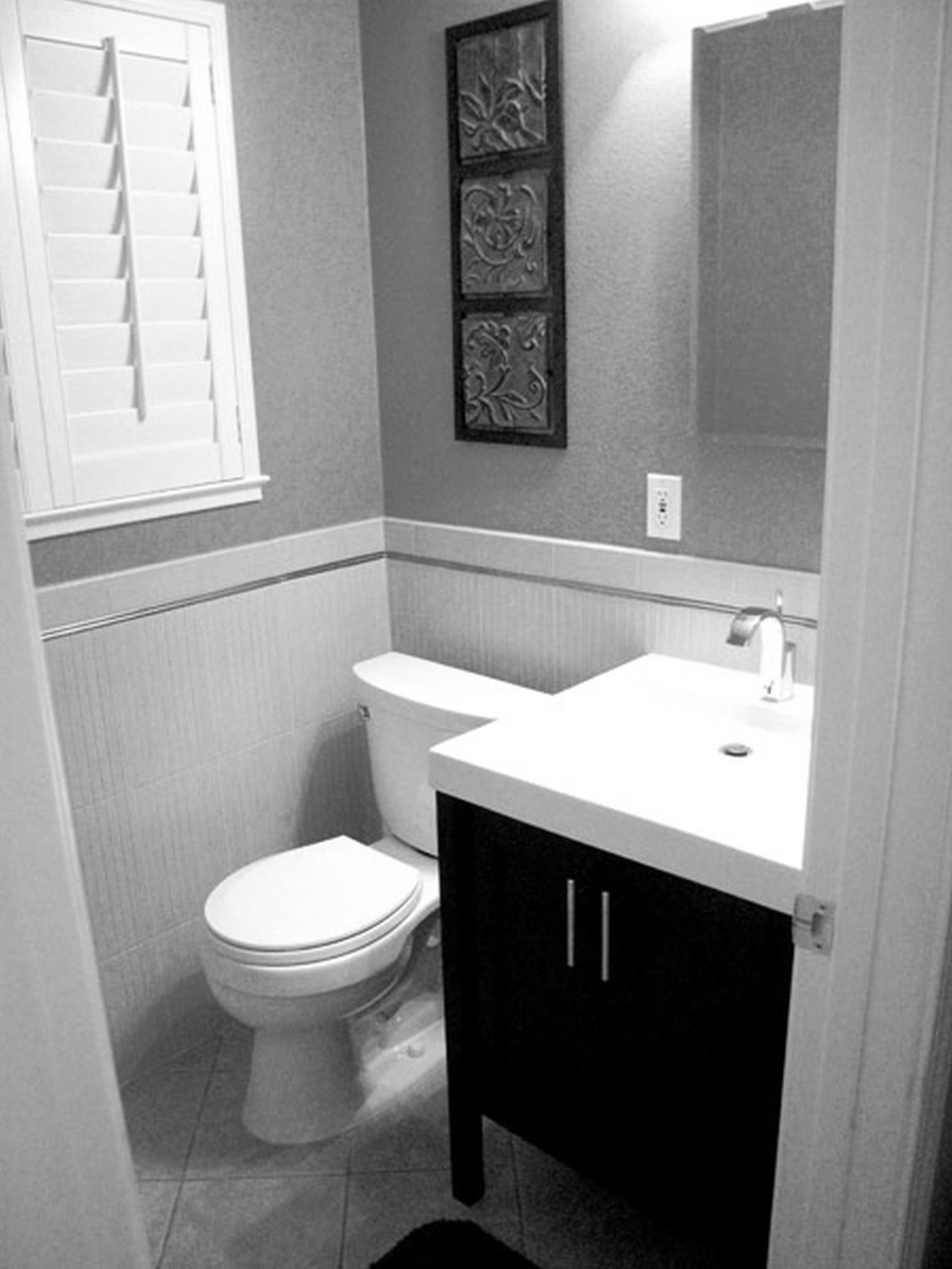 Grey Modern Small Half Bathroom Ideas Trendecors