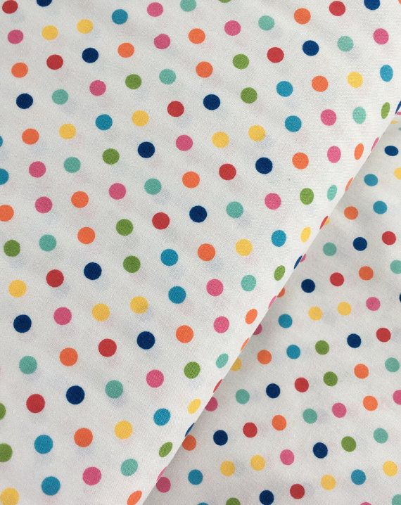 Multicolor Aspirin Polka Dot Cotton Fabric from the Basic Brights ... : polka dot quilt fabric - Adamdwight.com
