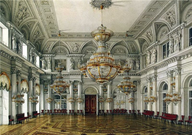 Concert hall grand opulent russian palace looks like where the ending scene will be in
