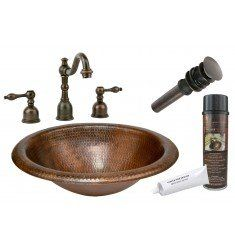 Photo of Copper Wide Rim Oval Self Rimming Sink Package