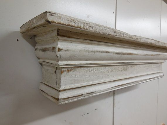 Rustic Handmade Farmhouse Mantle Hand Made By The Hubby Love The Chunky Corbels And Al The Distressed Features Mantle Farmhouse Home Fireplace Handmade Home Decor Diy Home Decor