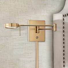George Kovacs Honey Gold LED Swing Arm Wall Lamp. Bedroom ...