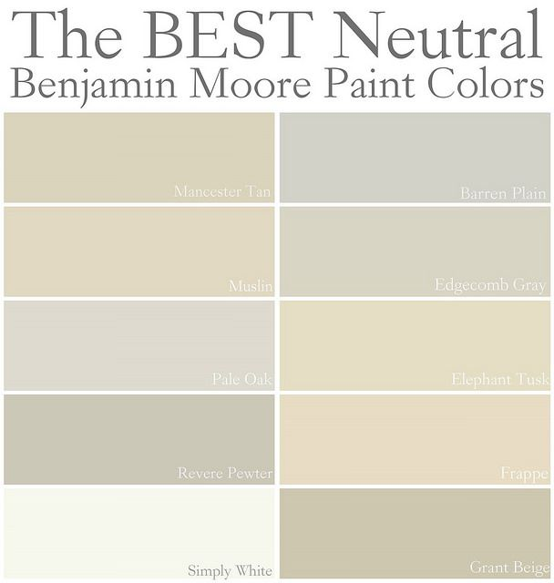 The Best Neutral Benjamin Moore Paint Colors Home Decor
