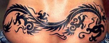 Lower Back Tribal Dragon Tattoo Dragon Tattoo For Women Back Tattoo Women Spine Back Tattoo