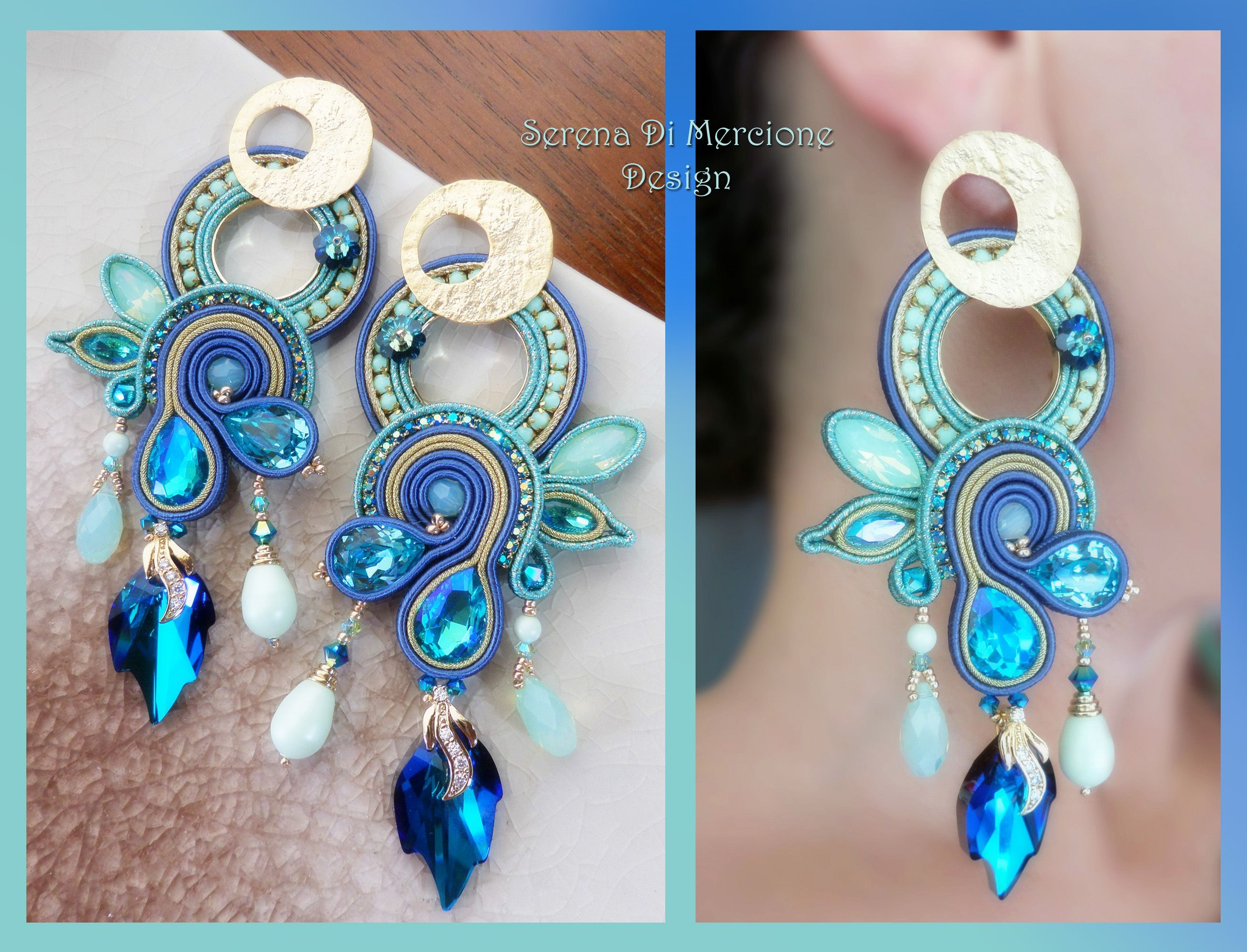 Soutache Earrings, design by Serena Di Mercione
