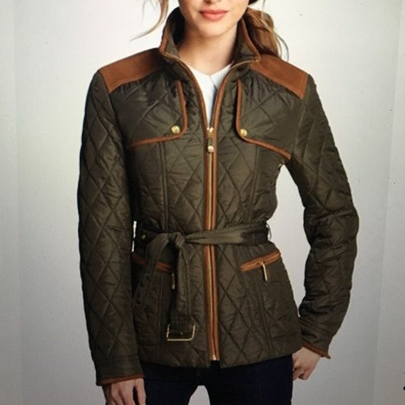 VINCE CAMUTO Womens Patch Pocket Quilted Jacket