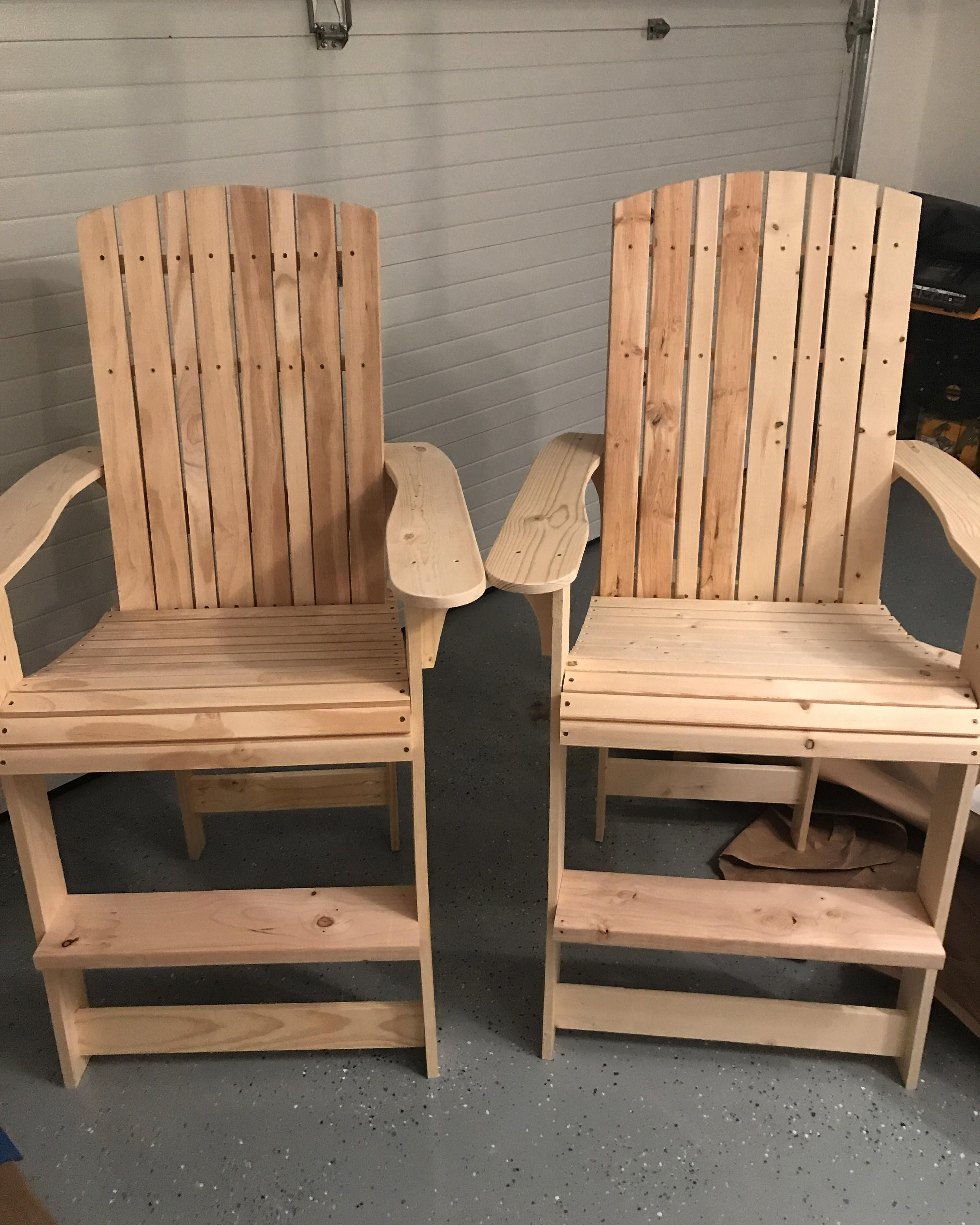 i decided to build some adirondack style chairs for my deck went