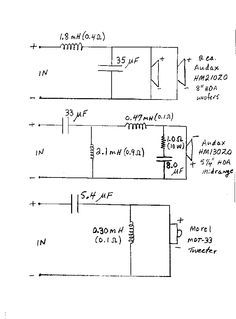 Dick Olsher S Crossover Schematic For His Poly Natalia 3