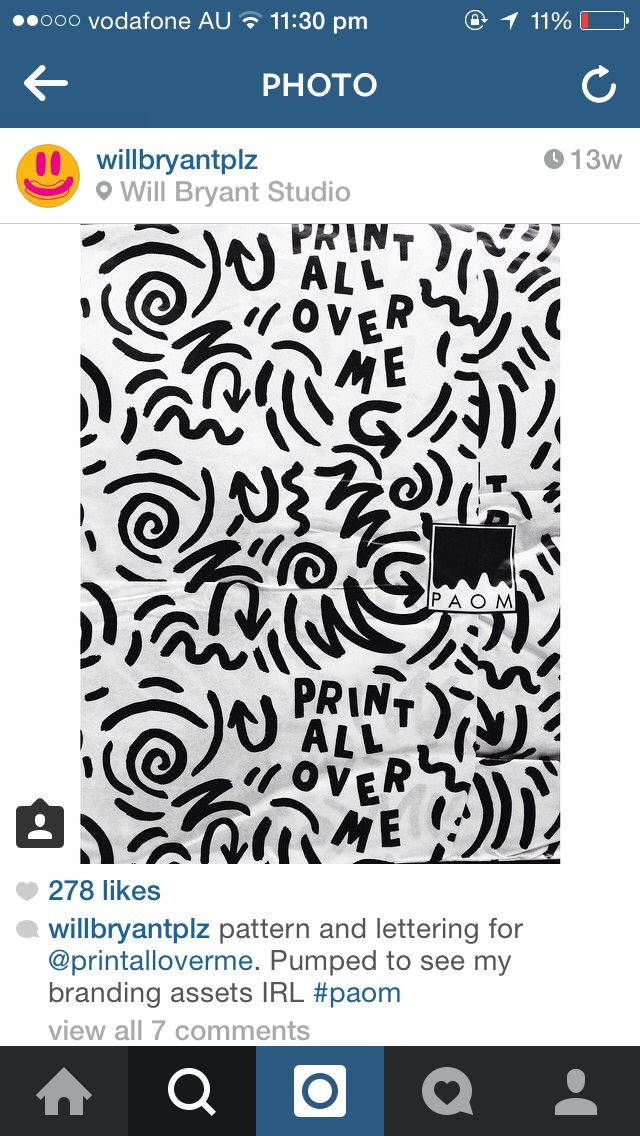 Print all over me