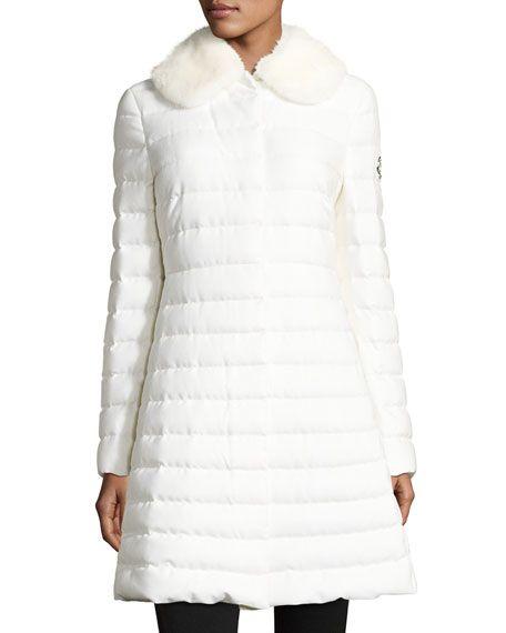 white moncler coat