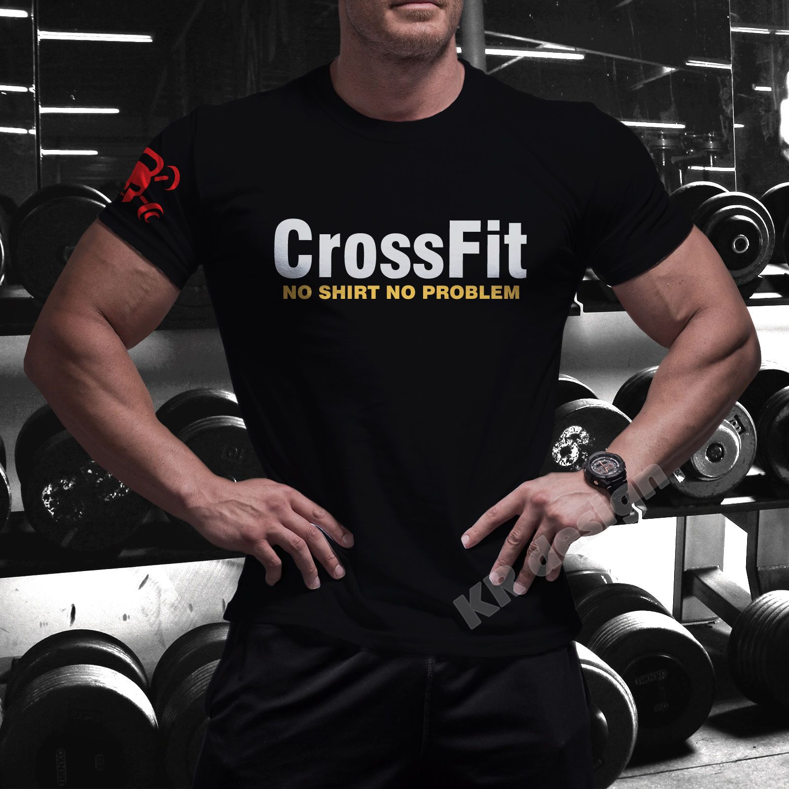 GYM CROSSFIT Mens T-Shirt WorkOut Functional Training Fitness Top Tshirt