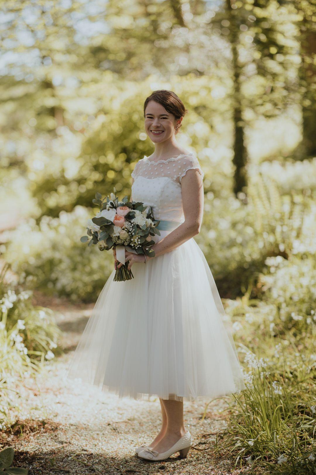 Sweet Simple And So Much Fun Olivia Donnacha Onefabday Com Tea Length Wedding Dress Short Wedding Dress Vintage Short Wedding Dress [ 1620 x 1080 Pixel ]