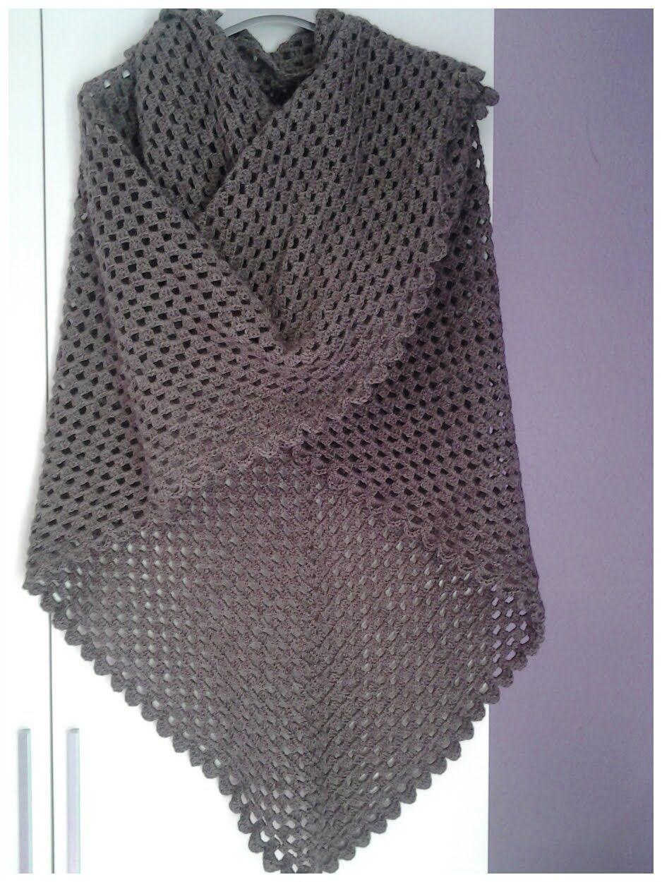 Chal interminable a crochet #tutorial #DIY Más | Chales | Pinterest ...