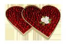 Zwei Herzen Erdbeer