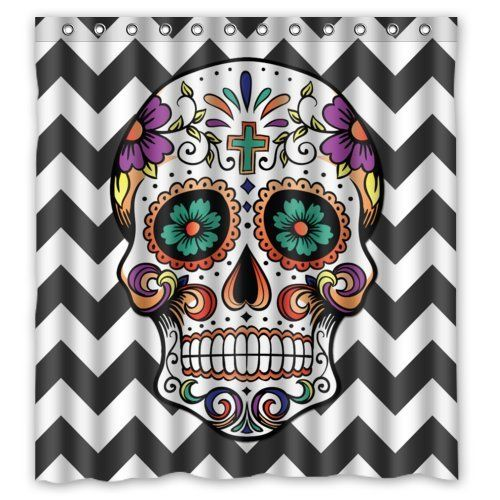 1000+ images about sugar skull shower curtain on pinterest