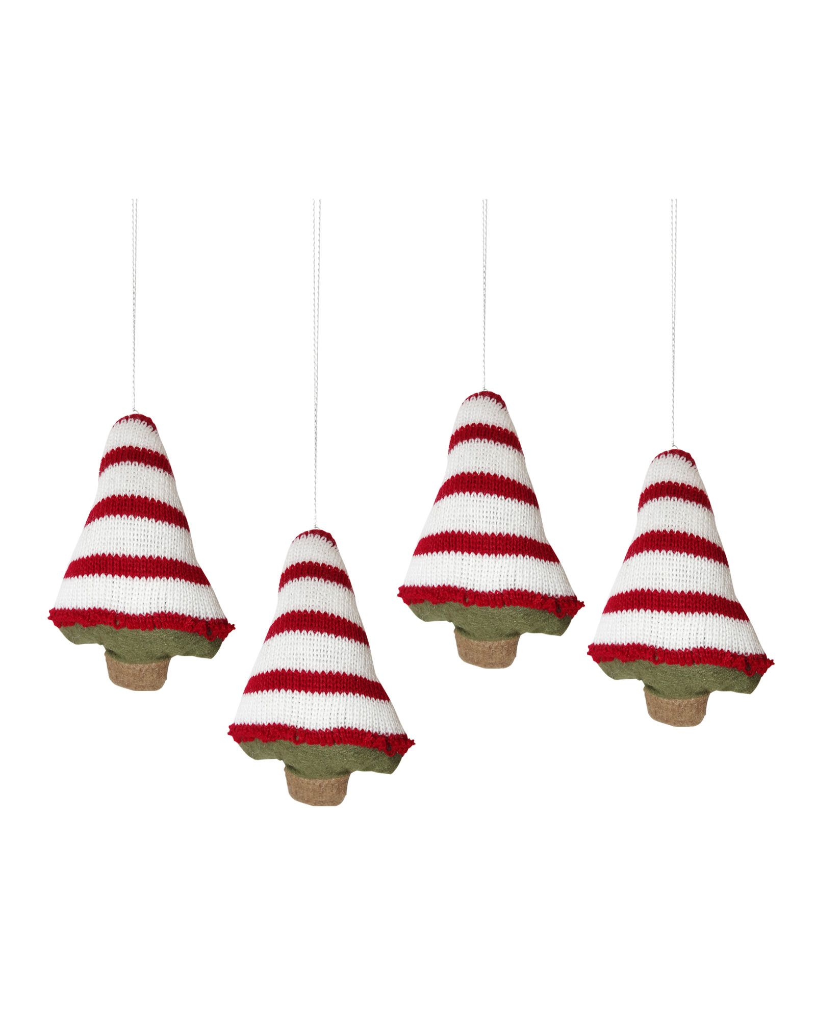 Gingerbread Knitted Christmas Tree Ornaments | Christmas tree ...