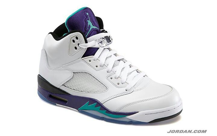 Retro 5 white/purple/aqua | Sneakers